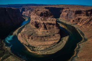 Aerial view of Horseshoe Bend near Page, Arizona